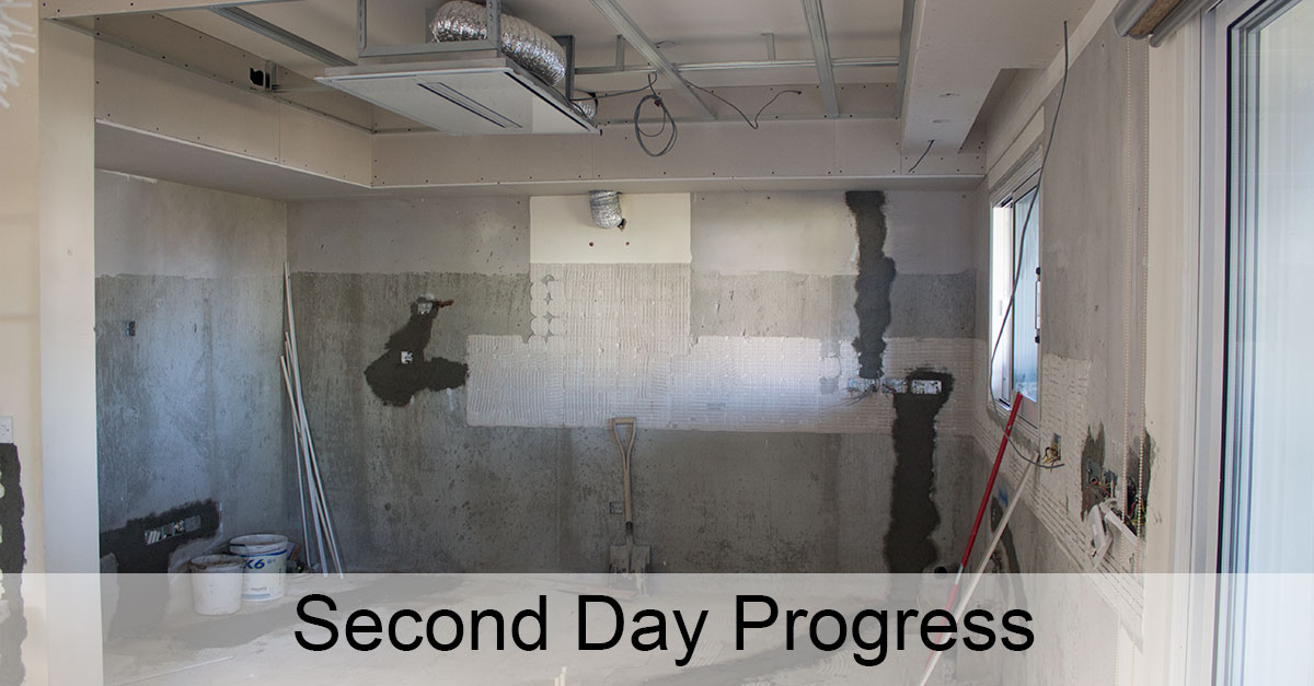 Day 2: Electrical Wall Schisms, Plaster Board Creation, Switch Boxes Installation