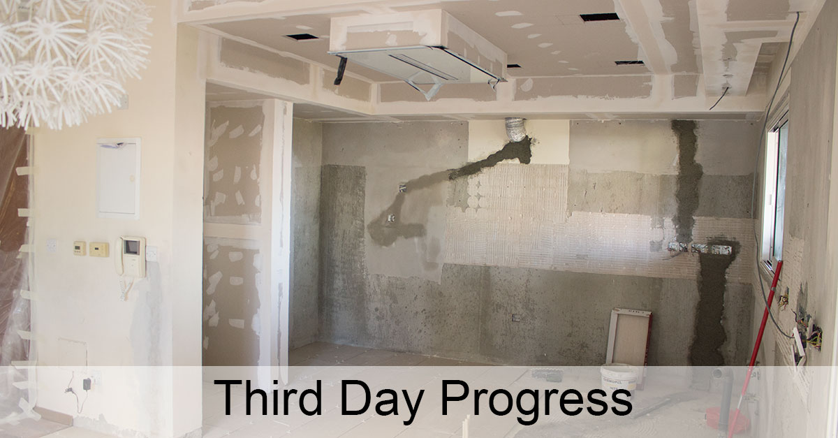 Day 3: Finishing With Plaster Boards and the Ceramic Tiles Installation