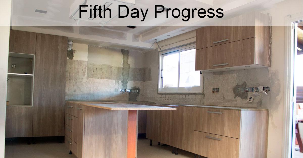 Day 5: Kitchen Installation and Quartz Countertop Measurement