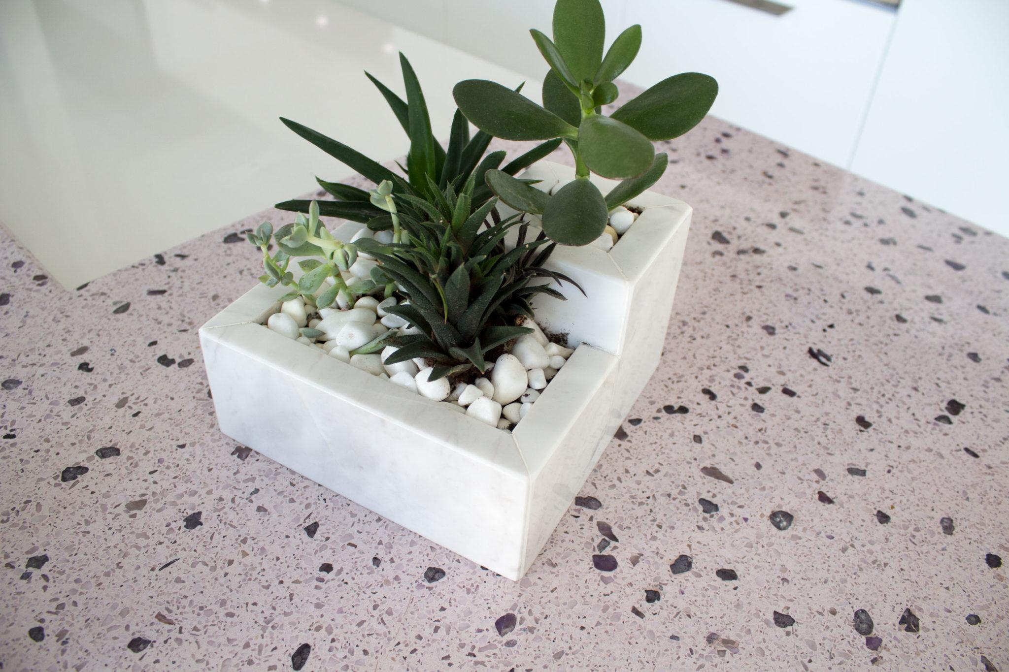 G.Nicolaou & Marble Stone Planter/Flower Pot - Double
