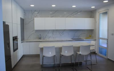 [Before & After] Kitchen Renovation in 11 Days ONLY – Model Natura/Calacatta ALL WHITE
